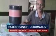 Hindi journalist Rajesh Singh threatened by JDU MLC Hira Vindthreatened by JDU MLC Hira Vind