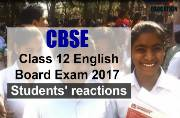 CBSE Class 12 English Board Exam 2017: Student's reaction