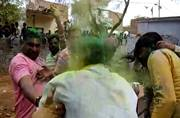 WATCH TILL THE END: Madhya Pradesh cops play Holi, singing and dancing and then...boom!