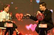 Karan Johar and Koel Purie Rinchet at India Today Conclave 2017