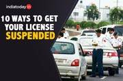 Ten things which will get your driving licence suspended