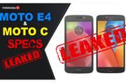 Moto E4 and Moto C: Motorola's upcoming affordable smartphones