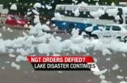 It is 'snowing' in Bengaluru: Varthur lake starts foaming after spell of rains