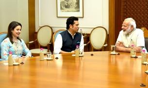 Sachin Tendulkar blessed by PM Narendra Modi ahead of Sachin: A Billion Dreams release
