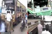 Tamil Nadu bus strike: Commuters face harrowing time as striking employees stop movement of buses