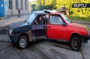 Crazy Mechanics Weld Three Cars Together to Create Automotive Fidget Spinner