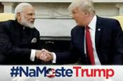 Narendra Modi and Donald Trump exchange gifts at the White House