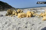 Mysterious Yellow Foam Washes Up on Popular French Beach