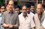 A delegation of Congress leaders appealed to the poll panel to intervene.