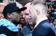 Insults Fly Instead of Fists as Mayweather and McGregor Face Off Ahead of Megafight