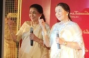 Asha Bhosle at Madame Tussauds