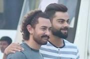 Virat Kohli shakes a leg with Aamir Khan in Mumbai