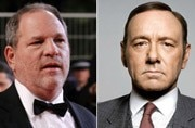 Harvey Weinstein (L) and Kevin Spacey