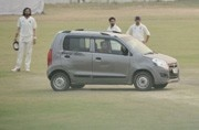 Major security scare at Ranji Trophy match as man drives car to pitch