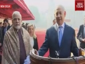 Ceremonial welcome for Israel PM Benjamin Netanyahu at Rashtrapati Bhavan