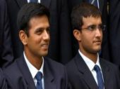 Sourav Ganguly congratulates Rahul Dravid after India lift ICC U-19 World Cup