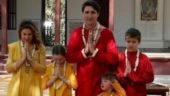After Netanyahu, Trudeau family tries their hand on charkha at Sabarmati