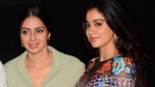 Sridevi (L) and Janhvi Kapoor