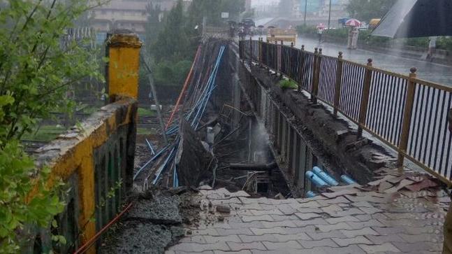 Slab of bridge collapses at Mumbai's Andheri station, services hit