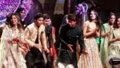 Inside Ambani engagement party: Shah Rukh leads flash mob with Akash-Shloka's friends