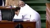 Rahul Gandhi hugged PM Modi