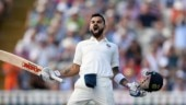 Virat Kohli celebrates his 22nd Test hundred