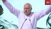 Farooq Abdullah heckled for chanting 'Bharat mata ki jai' in Kashmir