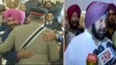 Sidhu for hugging Pakistan Army chief (L) and Punjab CM Amarinder Singh