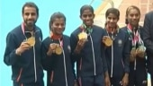 Indian government felicitated the medal winners of the 18th Asian Games with cash awards (India Today Photo)