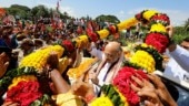 BJP supporters welcome Amit Shah at Odisha airport