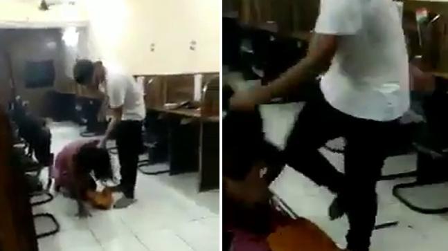 Watch: Delhi Police cop's son thrashes girl inside Tilak Nagar BPO