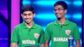 Hussain Ahmed and Syed Abdul Mannan of Hyderabad's Little Flower High School.