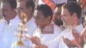 Rahul Gandhi performing puja in Jabalpur