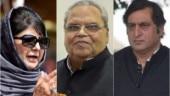 Mehbooba Mufti, Satya pal Malik, Sajad Lone,