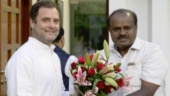 Rahul Gandhi with CM HD Kumaraswamy