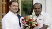 Rahul Gandhi with CM HD Kumaraswamy
