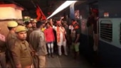 Shiv Sena workers chant Jai Shri Ram on train to Ayodhya