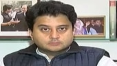 Senior Congress party leader Jyotiraditya Scindia
