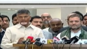 Chandrababu Naidu with Rahul Gandhi