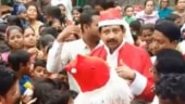 Bengal minister dresses up as Santa to celebrate Christmas in his constituency