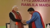 PM Modi with Manoj Tiwari