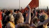 Naga sadhus at the Kumbh Mela.