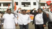 Pune trade unions protest government policies