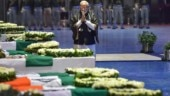 PM Modi pays his final respects to slain CRPF jawans