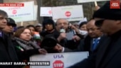 Indian-Americans protest outside Pakistan, Chinese consulate offices in US