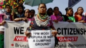 Protest against Citizenship Bill in Tripura. (Image: Reuters)
