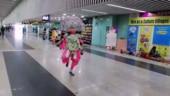 Watch: Chhau dancer's energetic performance at Kolkata airport