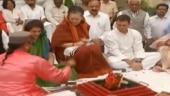 Sonia Gandhi performs havan ahead of filing nomination from Raebareli