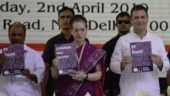 Congress leaders with party manifesto