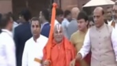 Watch: Rajnath Singh escorts Swami Rambhadracharya at Rashtrapati Bhavan for Modi's swearing-in ceremony